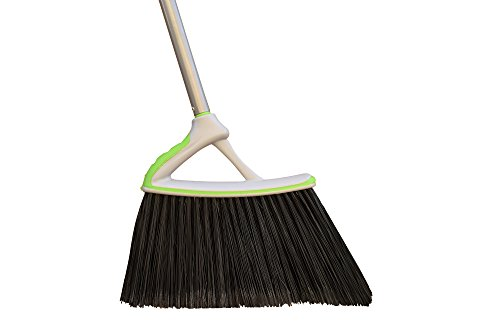 Urban Groomed Large Multi-Purpose Power Angle Broom, Converts into Hand Broom, 4.6 Feet (Black Plastic Janitor Broom)