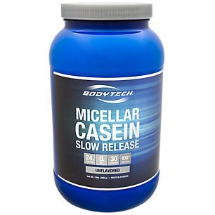 BodyTech Micellar Casein Protein Powder, Slow Release for Overnight Muscle Recovery 24 Grams of Protein per Serving Unflavored (2 Pound) Review