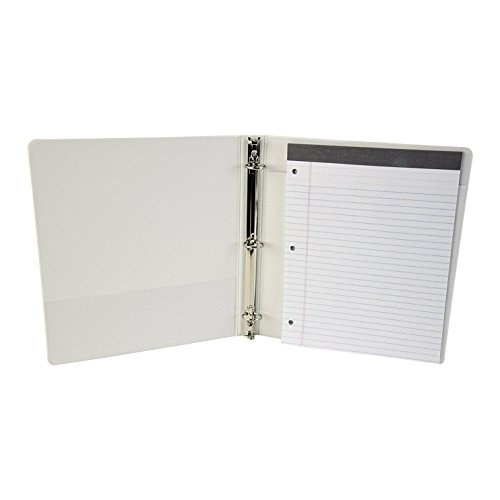 Samsill 2-in-1 3 Ring Binder & Padfolio, Customizable, Clear View, 1 Inch Round Rings, (Clear Front Pocket Padfolio)