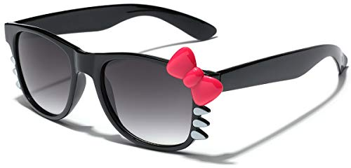 f6be9ef14 Hello Kitty Bow Women's Fashion Glasses with Bow and Whiskers - Black with Pink  Bow