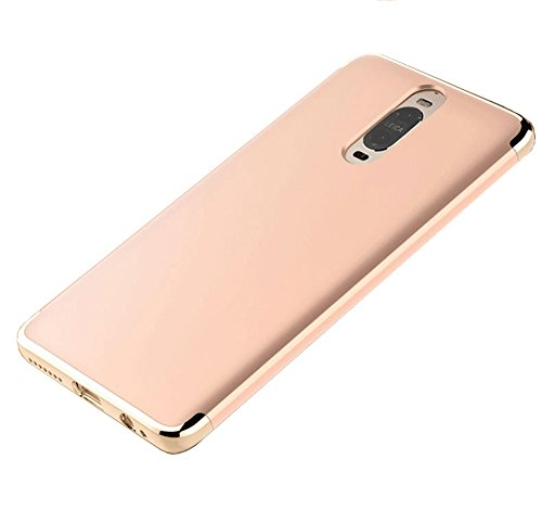 Price comparison product image Huawei Mate 9 Pro Case, Ranyi [3 in 1 Hybrid] [Anti-slip] [Metal Texture] Luxury Electroplated Painting Bumper + Matte Hard Back Cover Case for Huawei Mate 9 Pro 5.5 inch (gold)