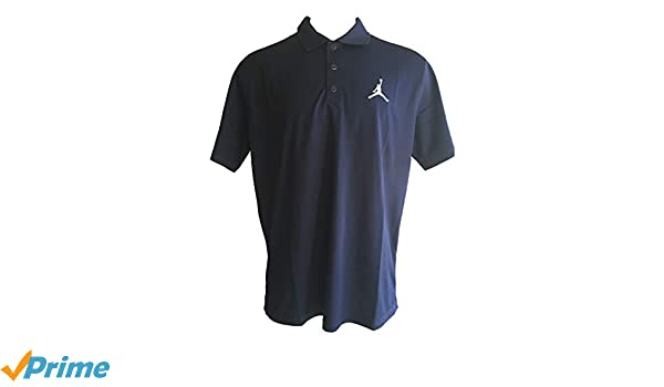 61b5ae71beb NIKE Men's Jordan Dri-Fit Team Polo Golf Style Short Sleeve Polo Shirts  (X-Large, Navy/White) at Amazon Men's Clothing store: