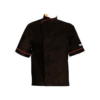 MANELLI Veste de Cuisine Noire et Pourtour Orange - Grande Taille ...