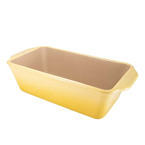 American Bakeware Loaf Pan (Lemon Yellow) - Non Stick Ceramic Stoneware - Heat Resistant to 400 °F - No Metals other Harmful Materials - Safe for Ovens, Microwaves, Dishwasher - Made in the USA