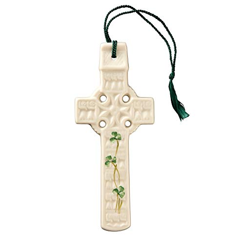 Celtic Cross Belleek - Belleek 2801 Celtic Shamrock Wall Cross