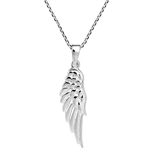 - Enchanting Single Angel Wing .925 Sterling Silver Pendant Necklace