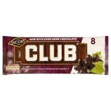 Jacobs Club Fruit 8 Chocolate - Pack of (Jacobs Club)