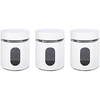 Best Amazon.com: PriorityChef Tea, Coffee, Sugar Jars, Set of 3 Glass  RX45