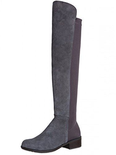 CASPAR Grey Boots Riding Women SBO062 r6vS8rT