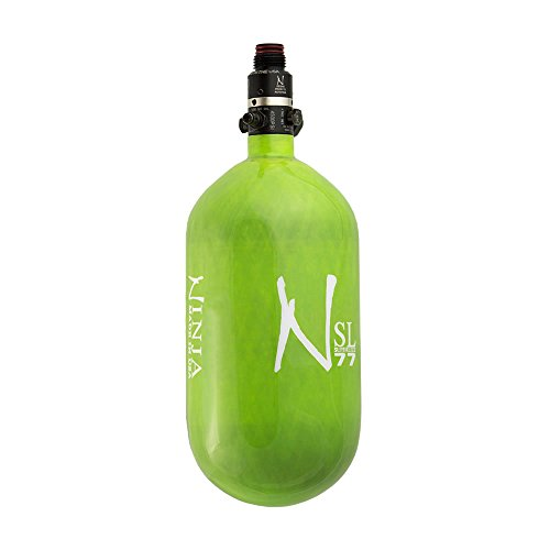 Ninja Carbon Fiber HPA Tank - SUPERLIGHT / SL - PRO V2 REG - 77/4500 - Lime by Ninja Paintball