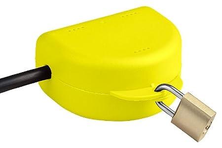 Die abschlie/ßbare Box f/ür jeden Stecker Jetzt mit w/ählbarer Farbe Doppelpack - Gelb RuS Steckersafe Basic