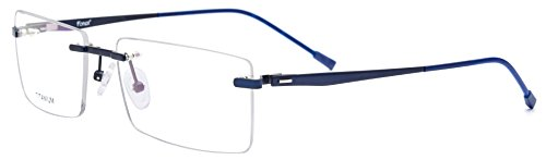 FONEX Optical Eyewear Unisex Myopia Prescription Eyeglasses Titanium Alloy Rimless Square Frame 8828 - Titanium Frames Rimless
