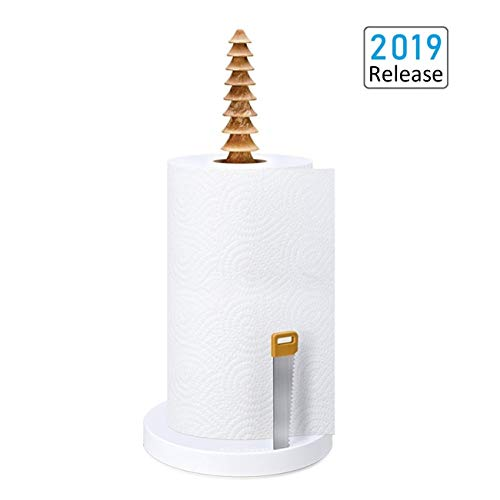 Non Slip Base - Paper Towel Holder, didaINT Tissue Holder Stand Countertop with Non-Slip Silicone Suction Cup Base for Kitchen, Bedroom, Bathroom and Restaurant, One-Handed Tearing