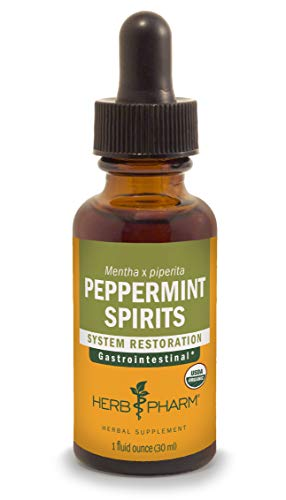(Herb Pharm Certified Organic Peppermint Spirits Liquid Extract Digestive Support Blend - 1 Ounce)