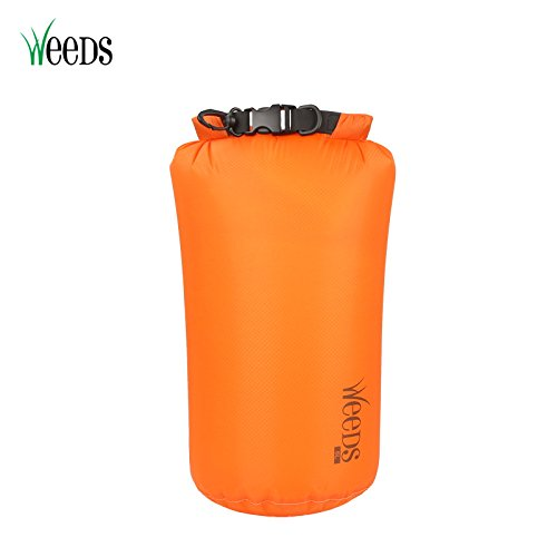 Weeds Waterproof Dry Bag Super Lightweight Dry Sack 3L 6L 12L Roll Top Compression Sack for Swimming Fishing Boating Rafting Canoeing Kayaking Hiking and Camping