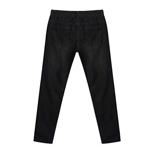 Gray,US:27//AS:28 Waist?28.3 NUWFOR Mens Stretchy Ripped Skinny Biker Jeans Destroyed Taped Slim Fit Denim Pants