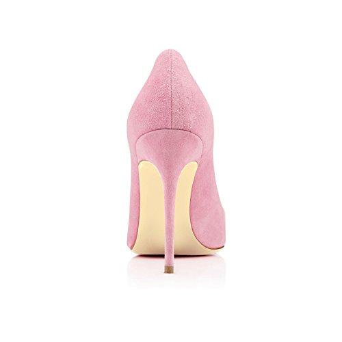 Donna da con Scarpe Scarpe EDEFS Eleganti Tacco 10CM Donna Estate Pink aTqxO1f