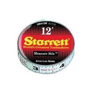 L S  Starrett Sm412w 1 2  X 12 Measure Stix Tape W  Adhesive Backing 1 Ea