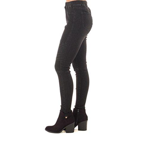 Nero Matita Skinny Donna Elastico Lunghi Denim In Jeans Sentao Slim Pantaloni Leggings PqgxOA88