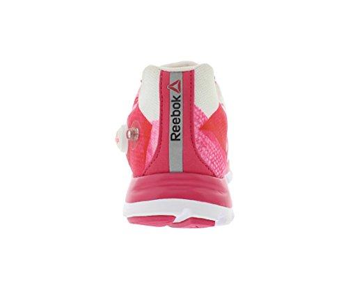 Reebok Womens Z-pump Fusion Scarpa Da Corsa In Frantumi Bianco / Rosa Acceso