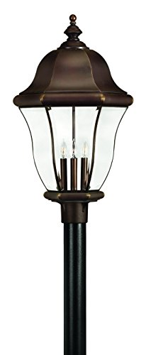 (Hinkley 2337CB Traditional Four Light Post Top from Monticello Collection in Copperfinish,)