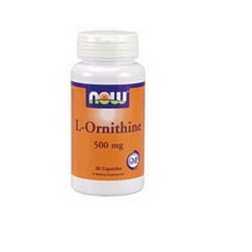 NOW Foods Ornithine, 60 Capsules 500mg / (Pack de 2)