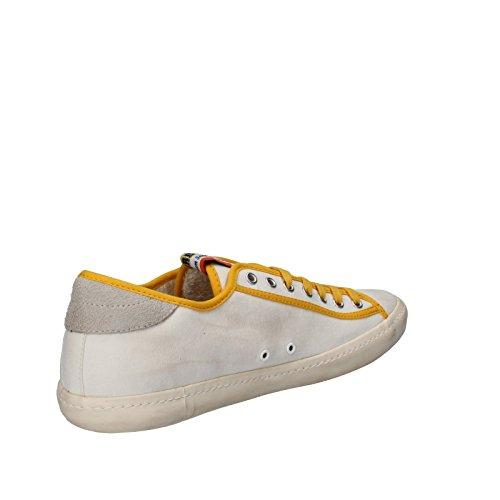 D.A.T.E. (date) Sneakers Uomo Bianco / Giallo Tessuto AP525 (43 EU)