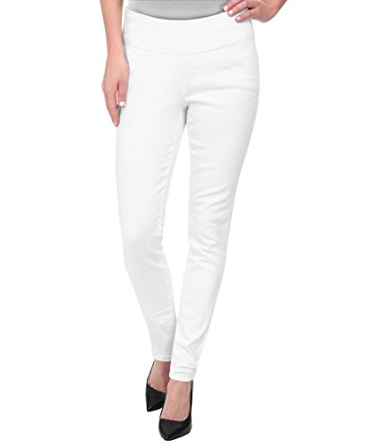 Trousers Lined Pants - HyBrid & Company Super Comfy Stretch Pull On Millenium Pants KP44972 White XLarge