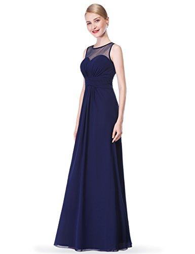 con 08761 de Azul Dama Imperio Cintura Honor Larga Gasa Ever Pretty Marino Mujer de de de Vestido I6wzxqxC