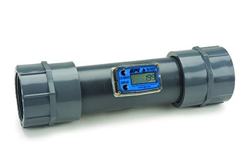 Turbine 3 FNPT Electronic Flowmeter, PVC, 40 to 400 ()