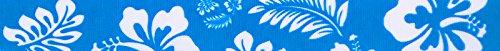 Country Brook Design5/8 Inch Blue Hawaiian Grosgrain Ribbon, 10 (Hibiscus Ribbon)