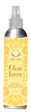 Aira Mist Clean Lemon Organic Room Spray - Essential Oil Spray with Therapeutic Essential Oils of Lemon & Orange - Living Room Spray & Bathroom Spray Free of Alcohol & Parabens - 4 (Room Spray Fragrance Perfume Oil)