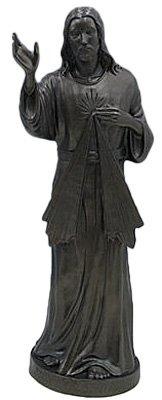 24 inch Divine Mercy - Outdoor Vinyl Statue, Granite Finish