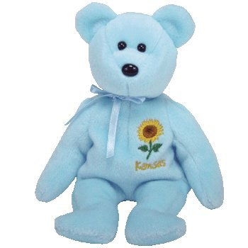 c38585ced37 Image Unavailable. Image not available for. Color  TY Beanie Baby - KANSAS  SUNFLOWER ...
