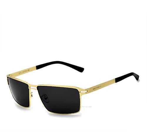 VEITHDIA - Gafas de sol - para hombre Dorado dorado: Amazon ...