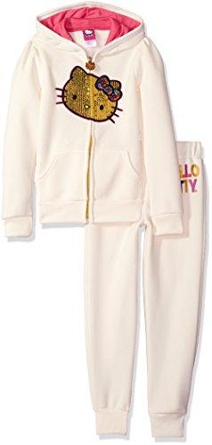 Hello Kitty Baby Girls 2 Piece Hooded Fleece Active Set  White 85692  12M