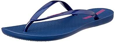 Ipanema Women's Waves Slippers, Blue, 6 US