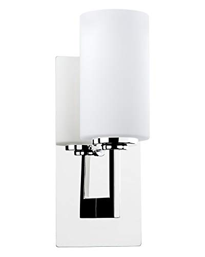 "Revel/Kira Home Celene 13"" 1-Light Wall Light/Vanity Sconce + Frosted Glass Shade, Chrome Finish"