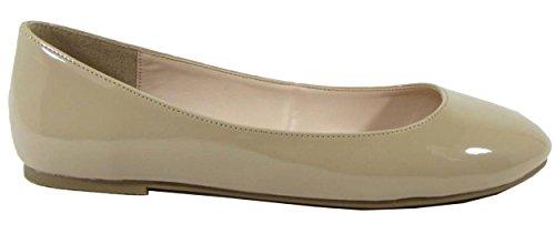 Ballet Beige Thesis Classified Women's City Patent Dark Round Flats Toe Classic zwOBYYfq