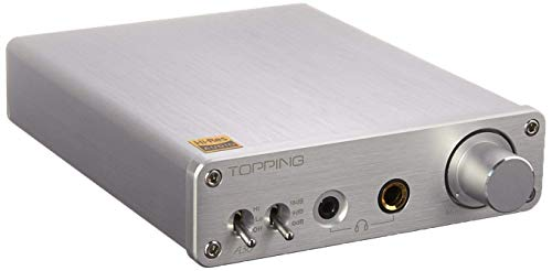 Topping A30 HiFi Desktop Headphone Amplifier 3.5mm/6.35mm Headphone Output Silver (A30 Silver)