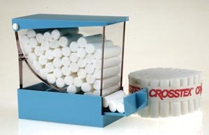 Crosstex PDCWH Cotton Roll Dispenser, Deluxe, 4'' x 3.3'' x 2'', White by Crosstex