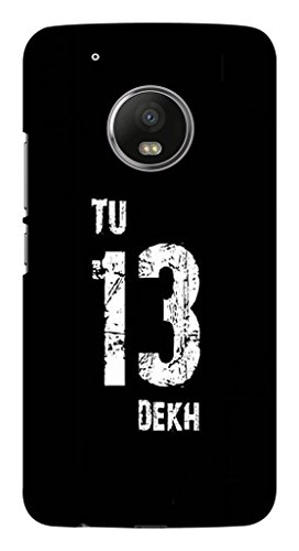 Blutec Tu 13 Dekh Design Printed Polycarbonate Back Cover for Motorola Moto G5 Plus  Black