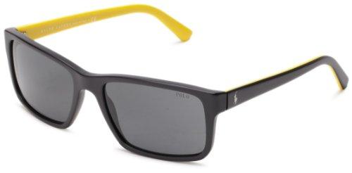 Polo Ralph Lauren 0PH4076 524487 Rectangular Sunglasses,Matte Black,57 - Polo Prescription Sunglasses