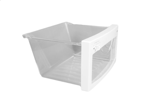 (LG Electronics 3391JJ1042B Refrigerator Vegetable Crisper Drawer, Clear with White Trim)