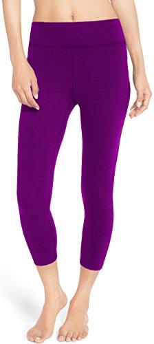 LMB Yoga Pants - Capri Leggings (Purple Capri Pants)