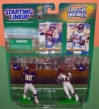 Cris Carter and Randy Moss of the Minnesota Vikings Action Figure Set - 1999 Starting Lineup Winning Pairs Classic Doubles NFL Football Superstar ()