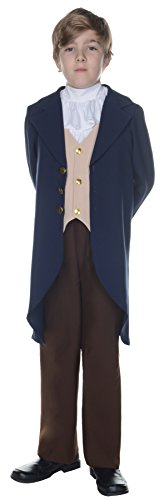 UHC Boy's Thomas Jefferson Outfit Historical Theme Child Halloween Costume, Child S -