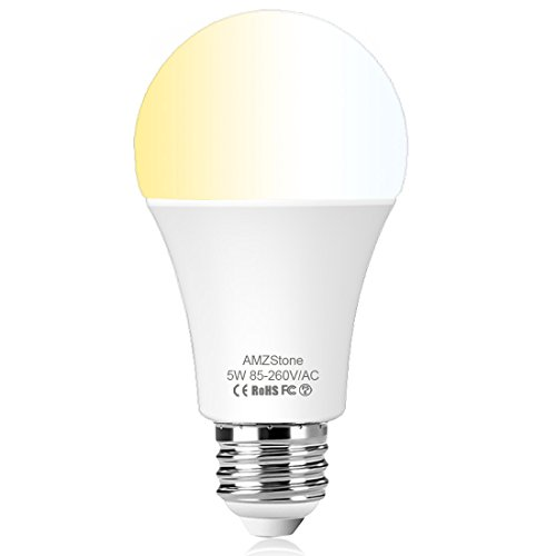 Smart Led Light Bulb 5W WiFi Smart Bulb Cool to Warm White Dimmable LED Light in A19 E26 Base Smartphone App Controlled Compatible with Alexa & Google Home No Hub Required For Sale