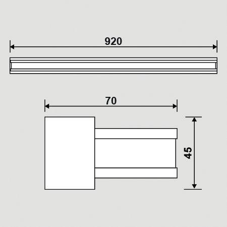 PREMIUM LED BATH-4 Spiegelleuchte Bilderleuchte Wandleuchte Warmweiß 3 Variante    7W - 42cm , 10W - 62cm , 15W - 92cm Warmweiss (15W - 92cm) 0c5acd