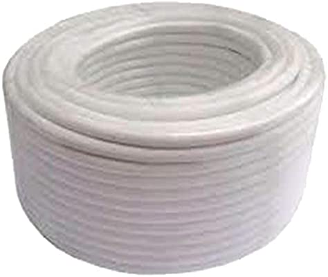 Powergreen CAB-88025-BST 25 m Blanco Rollo de Cable de Antena Rg6 Cobre Cubierta PVC